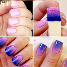 STZ Retail 1PCS DIY Creative Gradient Manicure Stamp Transfer Stamper Nail Art Sponge White Triangle NA144x1(China)