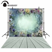 Allenjoy new arrivals photo backdrops Cool oil painting flowers beautiful white board backdrop photocall photo printed NO stand(China)