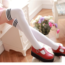 New Women's stockings Girls Fashion Opaque Over Knee Elastic Thigh High Stockings Women long Tights free shipping(China)