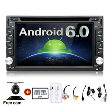 Universal 2 din Android 6.0 Car DVD Player GPS+Wifi+Bluetooth+Radio+Quad Core CPU+DDR3+Capacitive Touch Screen+3G+Car PC+Audio(China)