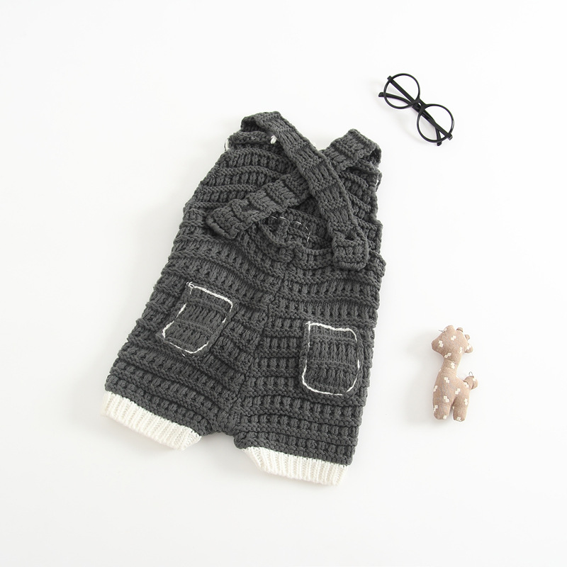 Newborn Baby Cotton Rompers Knitting Crochet Pig Costumes Overalls Clothes For Toddler Infant Boys Girls Jumpsuits Clothing (6)