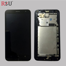 5.5 inch LCD Display Glass Panel Touch Screen Digitizer Assembly with frame replacement For Asus Zenfone 2 Laser Ze550kl Z00LD
