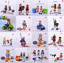 Wholesale 500g Original Genuine Germany Playmobil Toy action figure Police Farm Horse-drawn Carriage blocks kids toy Collectible