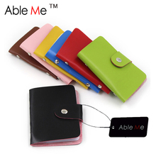 Promotional Gift Wholesale Unisex Business Card Holder Bag Travel Wallet Purse PU Leather Credit Card Holder Passport Cover Case