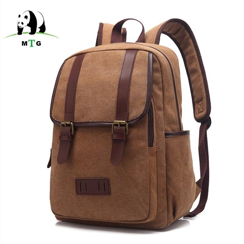 Womens and Mens backpack vintage canvas backpack school bag mens travel bags large capacity travel backpack bag Weekend Bags<br>