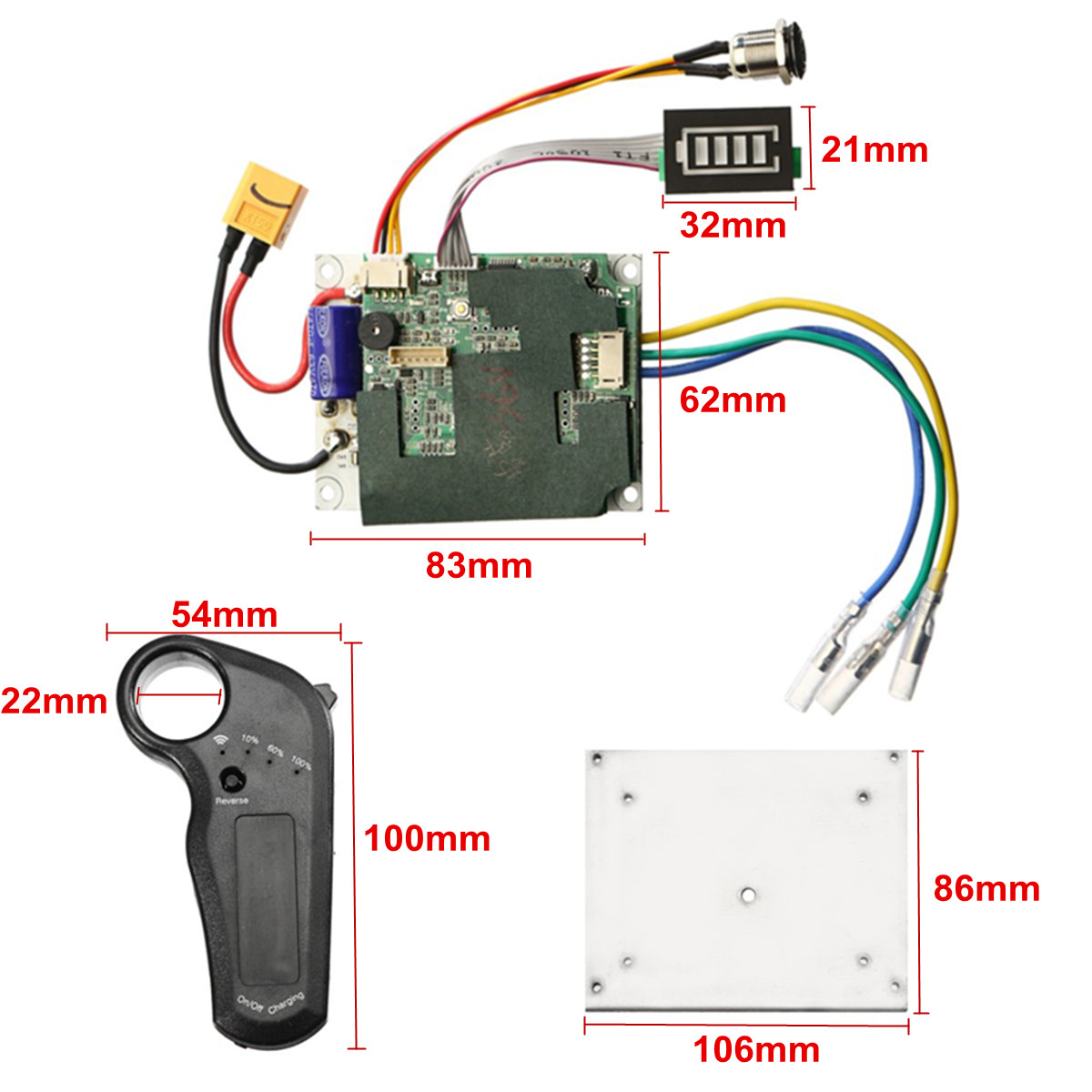 24/36V Single Belt Motor Electric Skateboard Controller Longboard ESC Substitute Parts Scooter Mainboard Instrument Tools 33