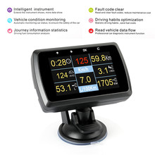 Car OBD Smart Gauge OBD2 Auto Scanner Water Tempmeter Speed Meter Gauge Display Driving Computer Over Speed Alarm Scan Tool(Hong Kong,China)