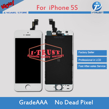 Grade A+++quality Mobile Phone LCD Display For iphone 5 5G 5S 5C lcd Touch Screen Digitizer Assembly color 10pcs/lot(China)