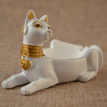 2017 nice design 2 size egypt dog ashtray craft car interiors home decoration accessories christmas gift resin animal(China)