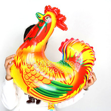 10pcs/lot 62*65cm big inflatable animal balloons cock foil helium balloon party supplies globos children birthday party toyDW004