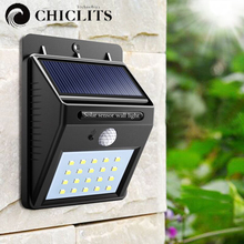 20LEDs Solar Lights with Motion Sensor Lamp Wireless IP65 Waterproof Outdoor Garden Light Energia Led Solar for Patio Deck Yard(China)