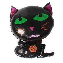 Black Cat Foil Balloons Animal Digit Helium Ballons Children Birthday Halloween Party Wedding Decor Air Baloons Event Party Toys