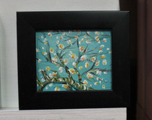 NEW 100% hand-painted oil painting on Small thin board Match framework  high quality Apricot blossom DM-928012
