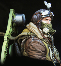 Free Shipping 1/10 Scale Unpainted Resin Bust WWII British pilot