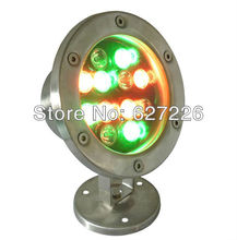 12W RGB DMX LED underwater lights waterproof light fish tank pond pool water surface shell accessories,Epileds 45MIL Chip