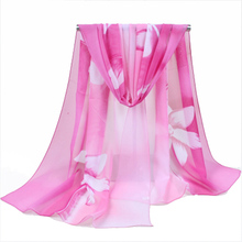 2017 Great  Brand New Summer Chiffon Scarf Woman Floral Print Silk Scarves&Shawls Female Thin long Beach Hijab Muslim Wrap Capes