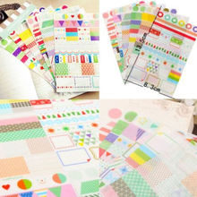 6Pcs/Set Creative Cute Sticker for DIY Scrapbooking Diary Phone Sticker Products Design Paster Kawaii Stationary
