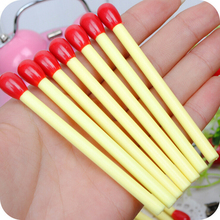 8 Piece Korean Stationery Cute Mini matchstick Pen Advertising Creative Bent School Office Ballpoint Pens(China)