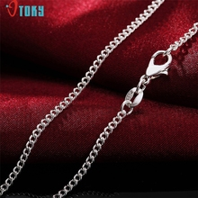 OTOKY Gussy Life Fashion Women Men 2MM Silver Necklace Chain Jewelry Mar9