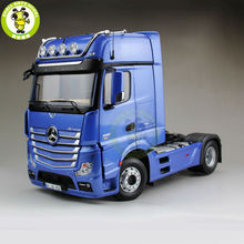 1/18 NZG Benz Actros FH25 GigaSpace Tractor Trailer Model Truck Blue