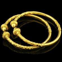 Gold Bangles for Women/Men Gold Color Jewelry Ethiopian/African/Arab Bangle Bracelet Gift