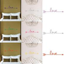 Love Arrow Wall Sticker Decal Living Room Bedroom Vinyl Carving Wall Decal Sticker Decoration Living Room Home Decor(China)
