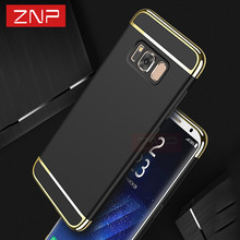 Luxury Case For Samsung Galaxy S8 S8 plus Cover 360 Degree Protection Hard PC Mobile Phone case 3 in 1 Case For Samsung S7 edge