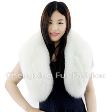 Collar-F18 Most Popular Fashionable Real Fox Fur Women Scarf Collar ~ Natural Colour(China)