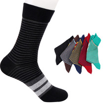5 Pairs Cotton In The Tube Stripes Men's Casual Breathable Deodorant Novelty Sock Best Comfortable Durable Anti-bacterial Socks(China)