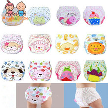 Free shiping 30pcs/lot waterproof Baby Training Pant underwear cotton learning/study infant pants trx0001