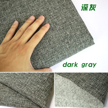 "Dark gray Coated Linen Fabric Sofa Cushion Fabirc DIY Craft Sewing Cloth Outdoor Linen Blend Fabric Upholstery 58"" wide Per yard"