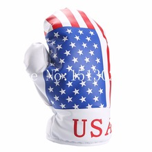 Personality OEM Driver Headcover Golf 440cc 460cc Synthetic Leather USA Flag Stars and Stripes Boxing Glove Head covers(China)