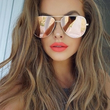 HIGH KEY Sunglasses women mirror Aviator shades luxury brand Design black pink sunglass gold male sun glasses for driving oculos