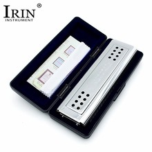 IRIN High-End Stainless Steel 24 Holes Tremolo Harmonica C And G Key Double Sides For Blues Rock Jazz Folk Musical Instruments(China)