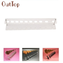 10 Holes Brush Storange Place Organizer Clear Acrylic 10 Lattices Cosmetic Shelf 106 Dropship