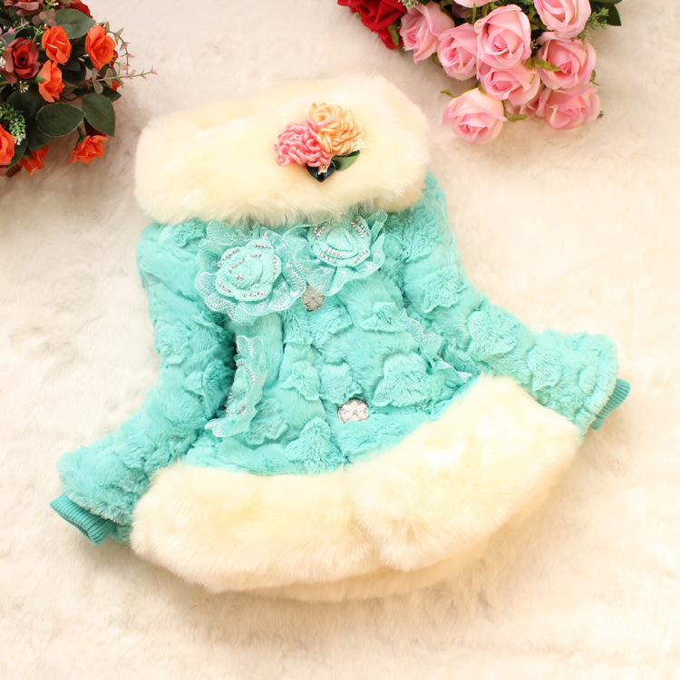 New Girls Faux Fur Coat 2017 New Autumn Winter Children Fake Fur Clothing  Jacket For Kids Warm Thickening Princess Outerwear<br><br>Aliexpress