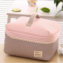 Hanup Portable Cosmetic Bag Lingerie Bra Underwear Dot Bags Makeup Organizer Storage Case Travel Toiletry Bag