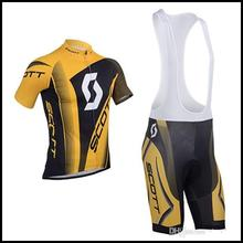 2015 Scott Cycling Jersey Mtb Bicycle Clothing Ropa Ciclismo Bike Jersey Riding Wear Men's Bib Shorts Set Bicycle SportsWear(China)