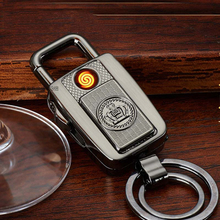 New Car key ring With USB Rechargeable Cigarette lighter and with led light safety car accessoier men bussiness Fashion suplies