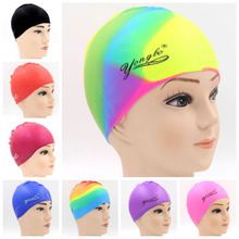 Water Sport Pool Swimming Bathing Adult Silicone Cap Beach Durable Swim Hat