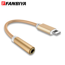 FANBIYA 3.5mm Audio Cable Micro usb to Lightning Adapter Headphone Cables for iphone 7  6 6s 5s Aux Jack Earphone Converter Cord