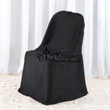 Black Cheap Wedding Poly Chair Cover Used For Folding Chair(China)