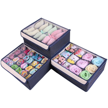 Storage Box Set With Transparent Cap Bra Organizer Socks Underwear Storage Box Underwear Organizer 3Pcs Organizador 32*26*13cm