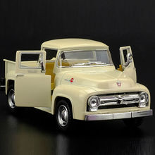 High Simulation Exquisite Diecasts&Toy Vehicles: KiNSMART Car Styling 1956 Ford F100 Pickup Trucks 1:38 Alloy Diecast Car Model