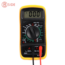 xl830l Digital Multimeter Voltmeter Ammeter AC DC OHM Volt Tester LCD Test Current Multimeter Overload Protection(China)