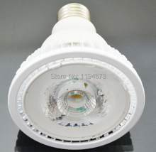 Free shipping E27 12w warm cold white PAR30 Dimmable COB led light bulb LED spotlight  led home light 85-265V/AC