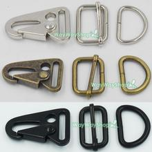 "5 sets HK Sling Clips Triglides Dring Olecranon Hook for Webbing Strap Buckles 1"" 25mm(China)"