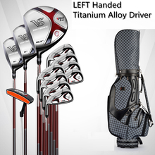 Brand PGM, 12-pieces golf clubs LEFT handed Titanium Alloy for Rod of Driver, MENS golf clubs complete set of Graphite shaft