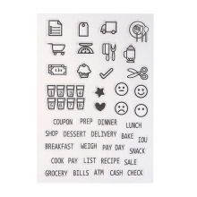Cut Emoji COOK SHOP Transparent Clear Silicone Stamp/seal for DIY Scrapbooking/photo Album Decorative Clear Stamp Sheets.