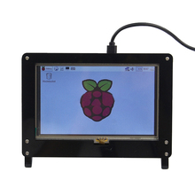 Protective Shell for 5Inch Raspberry Pi Capacitive Touch Screen HDMI USB 1024*600 LCD IPS Display Cover for LCD Monitors